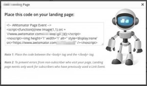 AWtomator pageview events let you move/copy/tag subscribers when they visit a certain page on your website