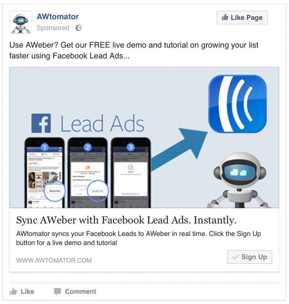 Click the image for the Live Lead Ad