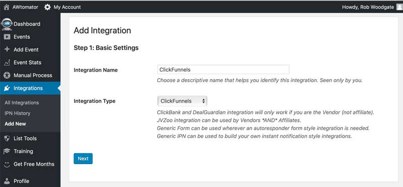 Create a Clickfunnels integration in AWtomator