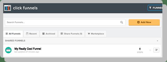 Open a funnel in Clickfunnels